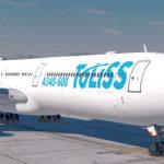 ToLiss A340-600 gelandet